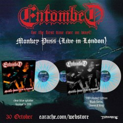 "Entombed ""Monkey Puss - Live In London"" Vinyl"