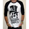 "Blackberry Smoke ""Skull & Tophat"" 3/4 Length Raglan Baseball Shirt"