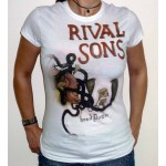 "Rival Sons ""Head Down"" White Girlie T-shirt"