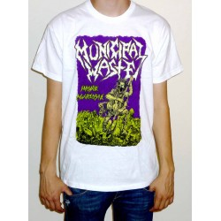 "Municipal Waste ""Massive Aggressive"" White T-shirt"