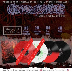 "Carnage ""Dark Recollections"" Limited Edition FDR Colour Vinyl"