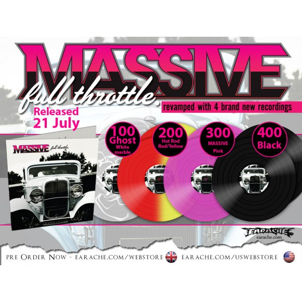 "Massive ""Full Throttle"" Limited Edition Gatefold 2x12"" Colour Vinyl"