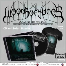 "Woods Of Ypres ""Against The Season: Cold Winter Songs From The Dead Summer Heat"" CD + Any T-shirt, with optional woven patch"