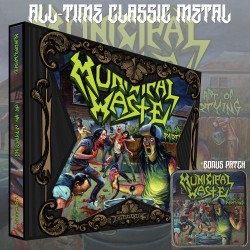 "Municipal Waste ""The Art of Partying"" Slipcase CD with Album Cover Patch"