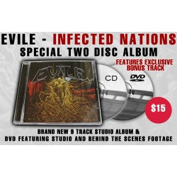 "Evile ""Infected Nations"" CD/DVD - Webstore Exclusive!"