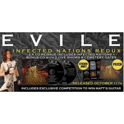 "Evile ""Infected Nations"" 2CD Redux, w/ Patch + Sticker Sheet"