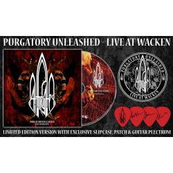 "At The Gates ""Purgatory Unleashed - Live At Wacken"" Ltd Edition Slipcase CD + Patch + Plectrum"