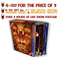 "Various ""Maximum Metal"" 4 DVD Box Set + ""New Noise Attack"" Compilation CD + 4 Morbid Angel Posters!"