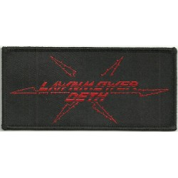 "Lawnmower Deth ""Logo"" Woven Patch - 11cm x 5cm"
