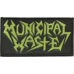 "Municipal Waste ""Logo"" Woven Patch - 11cm x 6.3cm"