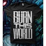 "The Browning ""Burn This World"" Slogan T-shirt"