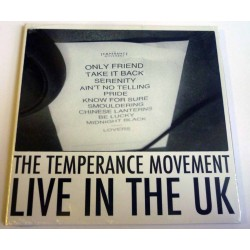 """The Temperance Movement """"Live In The UK"""" Digisleeve CD"""